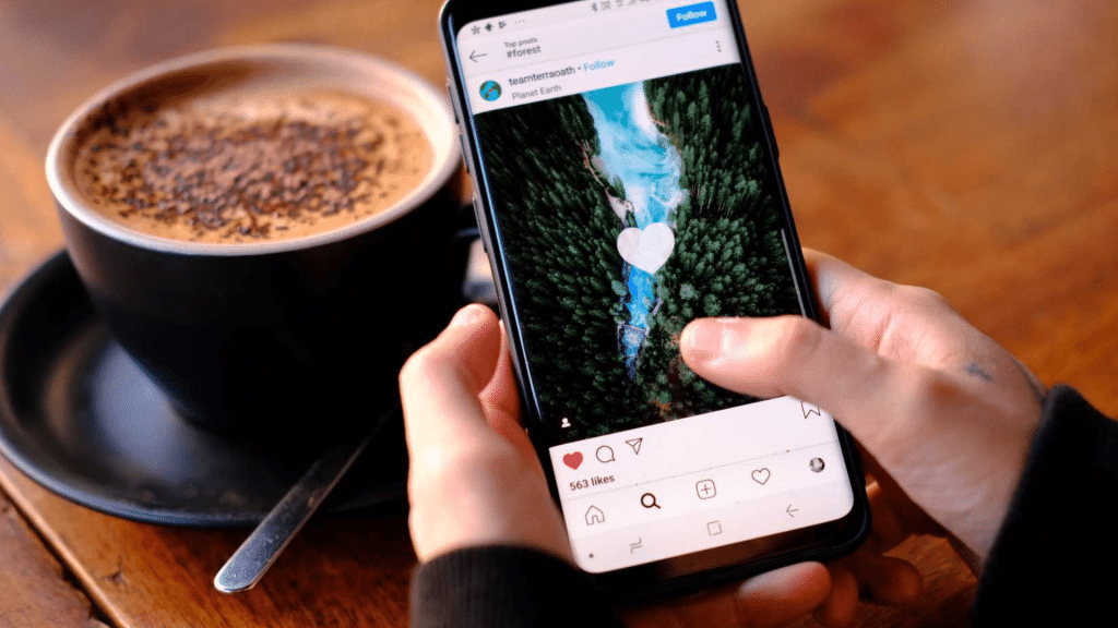 Scrolling Instagram Newsfeed